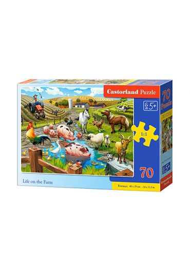 Puzzle 70 piese Life on the Farm