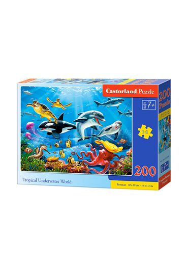 Puzzle 200 piese Tropical Underwater World