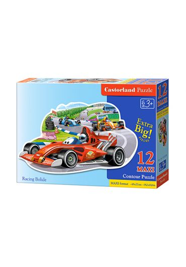 Puzzle 12 piese maxi Racing Bolide