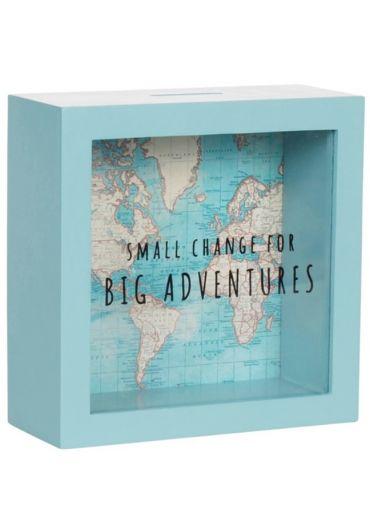 Pusculita - Vintage Map Big Adventures Blue