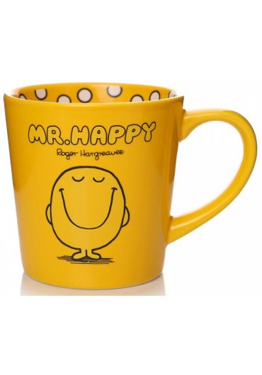 Cana ceramica - Mr. Men (Mr. Happy) Yellow