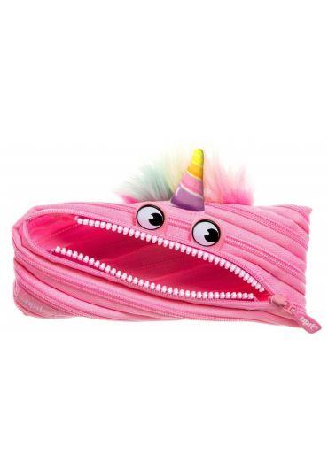 Penar cu fermoar Zipit Unicorn - Roz deschis