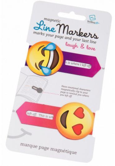 Semne de carte magnetice - Linemarkers Love&Laugh