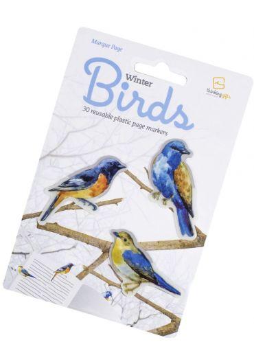 Semn de carte - Stikkimarks Winter Birds