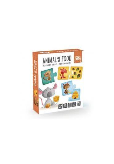 Puzzle educativ Montessori - Animale si hrana lor