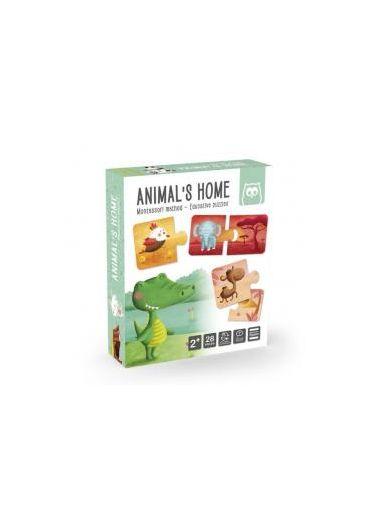 Puzzle educativ Montessori - Animale si mediul lor de viata