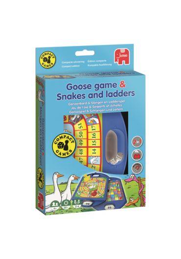 Joc de societate Goose and Snakes, 2 in 1