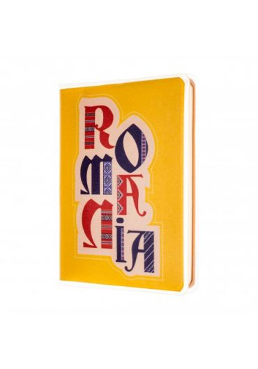 Agenda nedatata Romania galben foaie alba 120 pagini