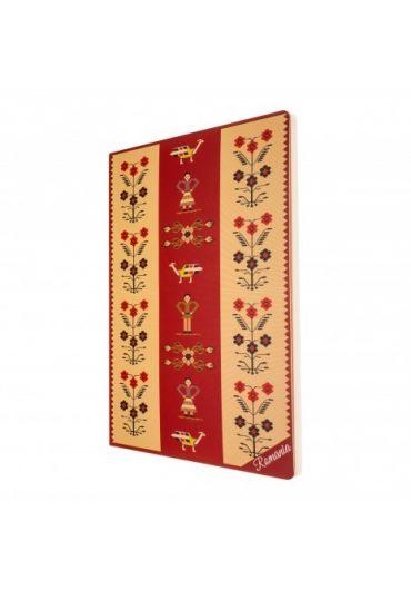 Agenda nedatata motive florale foaie alba 160 pagini