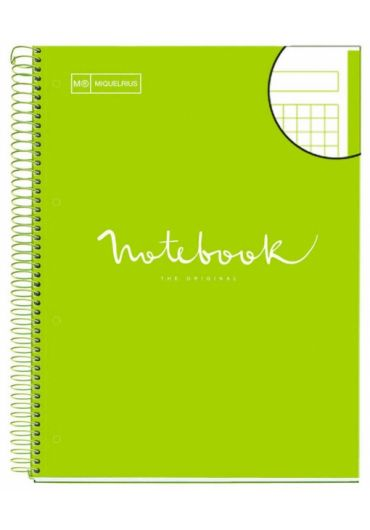 Caiet A4 80 file matematica Emotions Lime