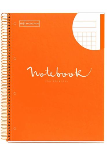 Caiet A4 80 file matematica Emotions Orange