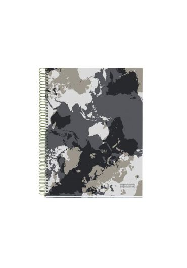 Caiet A5 140 file dictando World Map