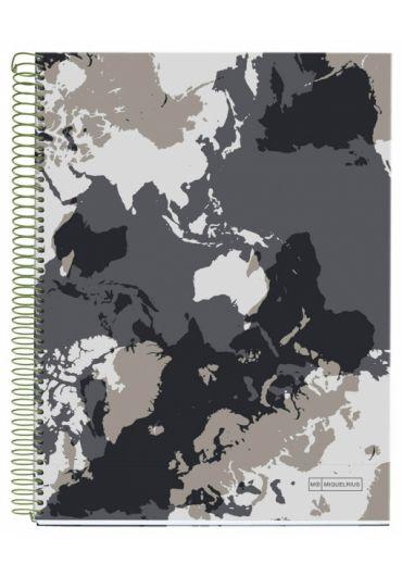 Caiet A4 140 file dictando World Map