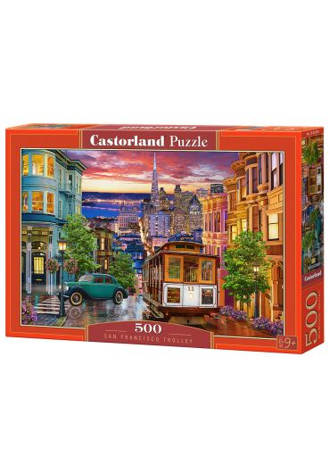 Puzzle 500 piese San Francisco Trolley