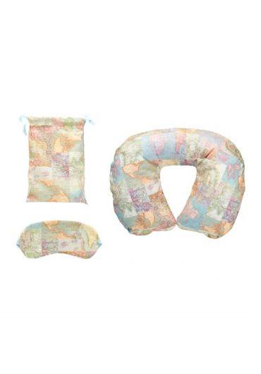 Set Vintage Perna de calatorie + Masca de dormit