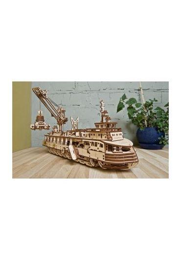 Puzzle 3D lemn - Nava de cercetare