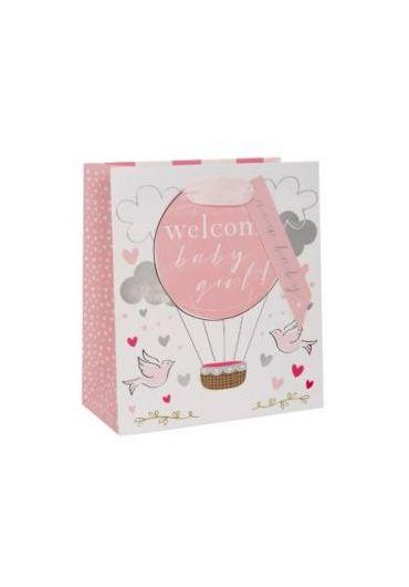 Punga de cadou - Baby Girl Balloon
