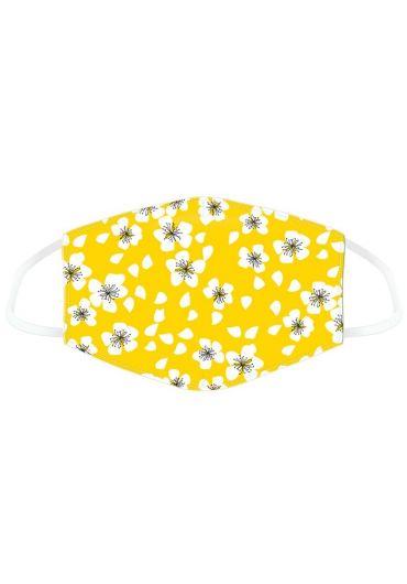 Masca de protectie reutilizabila - Yellow Floral Large