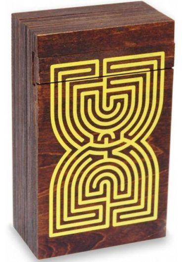 Puzzle din lemn - Labyrinth Puzzle Box