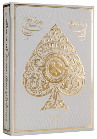 Carti de joc Artisan White Edition