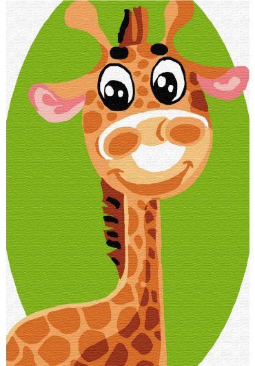 Set Picturi pe numere, Acuarello, 20X30 cm - Giraffe