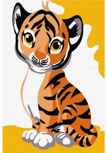 Set Picturi pe numere, Acuarello, 20X30 cm - Little Tiger