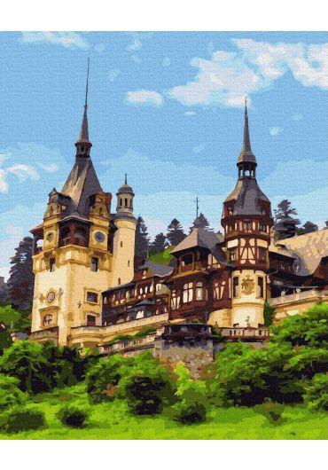 Set Picturi pe numere, Acuarello, 40X50 cm - Peles Castle