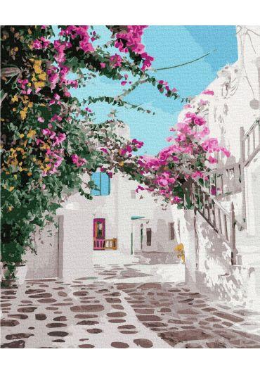 Set Picturi pe numere, Acuarello, 40X50 cm - Vacation in Greece