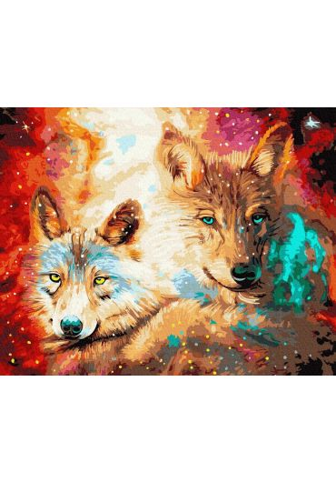 Set Picturi pe numere, Acuarello, 40X50 cm - Wolfs
