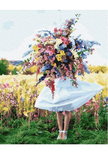 Set Picturi pe numere, Acuarello, 40X50 cm - Flowers Field