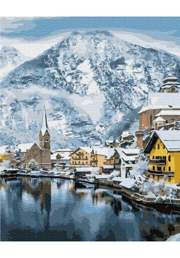 Set Picturi pe numere, Acuarello, 40X50 cm - Winter Beauty