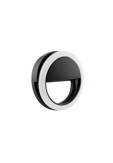 Lampa Led Ring pentru Selfie cu cablu date Micro Usb Negru