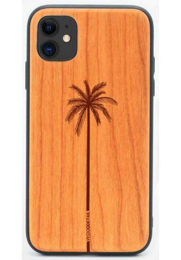 Carcasa din Lemn pentru iPhone 11 - Single Palm