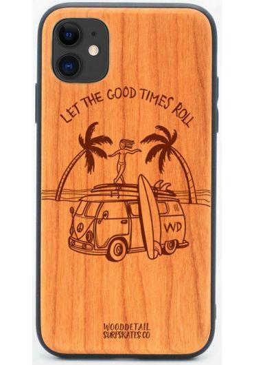 Carcasa din Lemn pentru iPhone 11 - Good Times