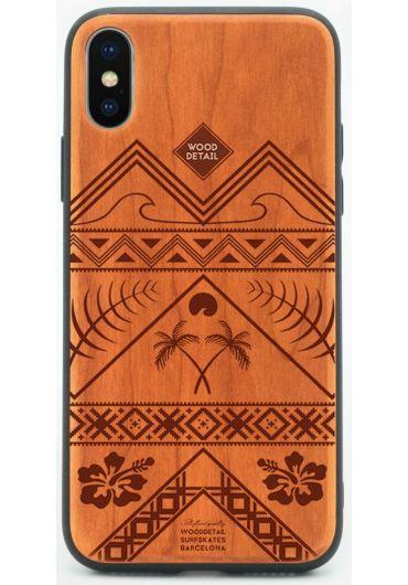 Carcasa din Lemn pentru iPhone X/XS - Ethnic