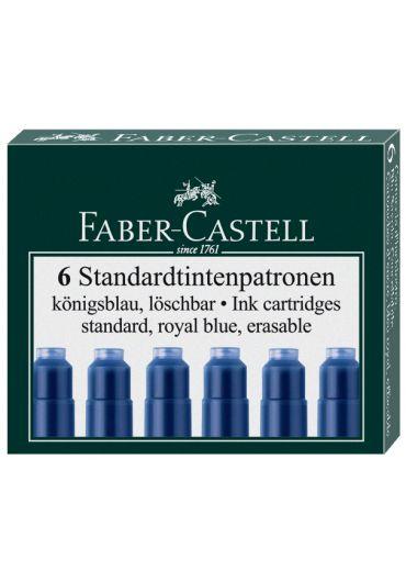 Cartuse cerneala mici albastre 6/set Faber Castell