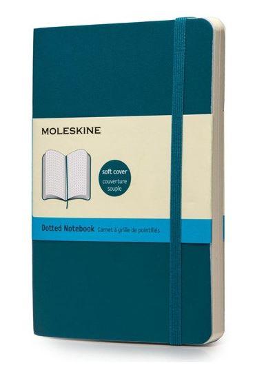 Notebook Moleskine pocket dot underwater blue soft