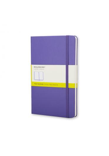 Notebook plain brilliant violet hard cover pocket