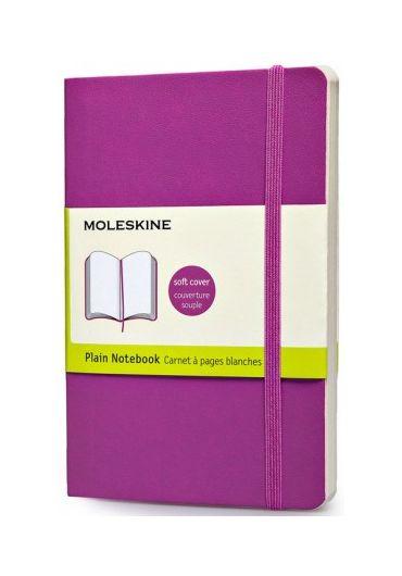 Notebook pocket plain orchid purple soft cover