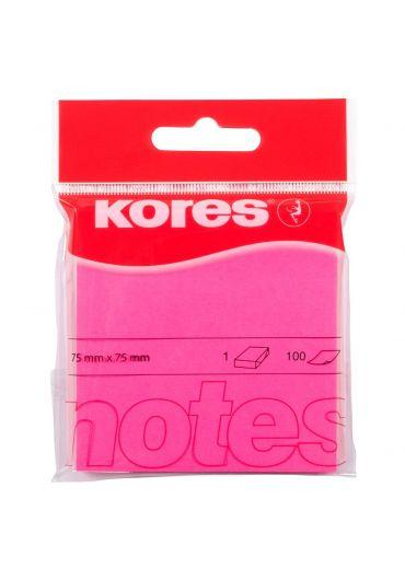 Notes adeziv 75x75 roz neon