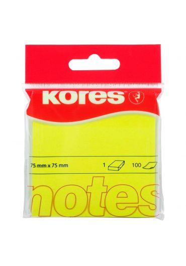 Notes adeziv 75x75 galben neon