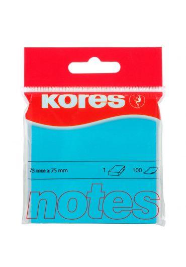 Notes adeziv 75x75 albastru neon