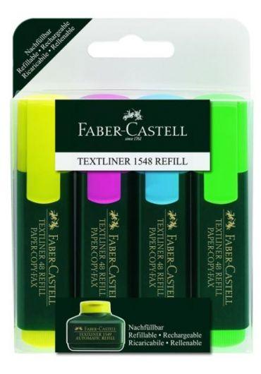 Textmarker set 4 Faber Castell