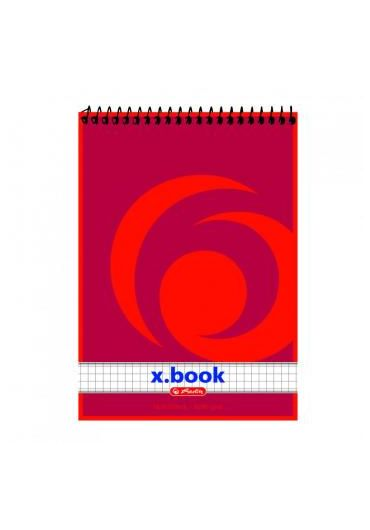 Bloc notes A6 50 file matematica cu spirala - X.Box