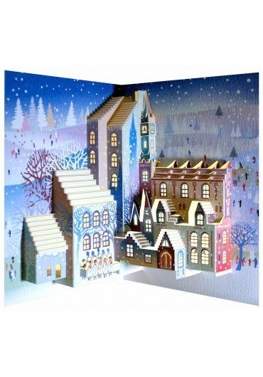 Felicitare Christmas Carol Singers - Laser Pop Up