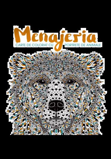 Menajeria. Carte de colorat cu portrete de animale