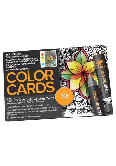 Set cartoane cu imagini pentru colorat Zen