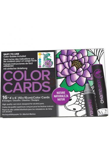 Set cartoane cu imagini pentru colorat Nature