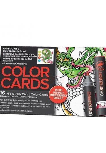 Set cartoane cu imagini pentru colorat Tattoo