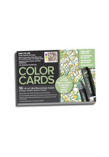 Set cartoane cu imagini pentru colorat Floral Patterns
